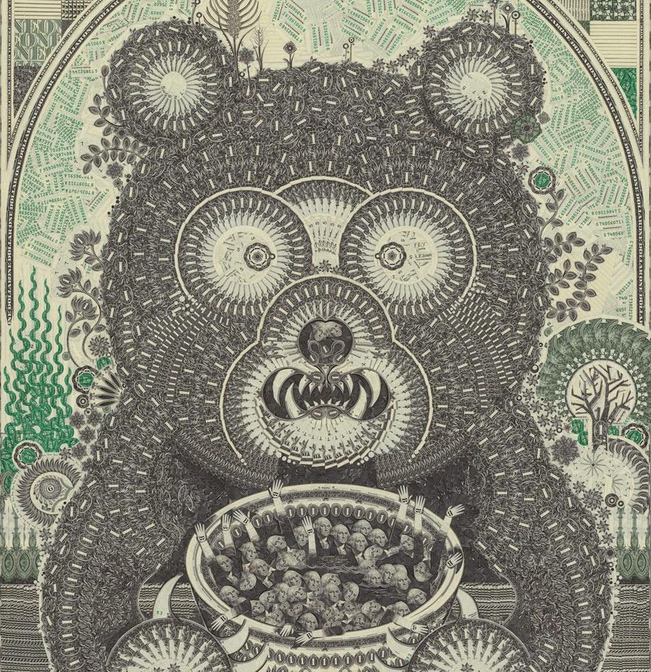 portada-oso-mark-wagner-artista-collage-billetes-dinero-dolar-sleepless-sleepydays2