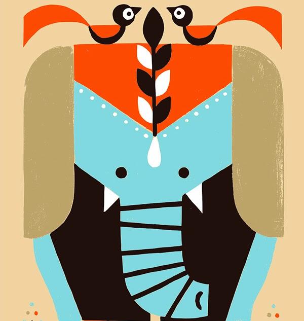 elefante-shunsuke-satake-japan-illustrator-ilustracion-design-animales-animals-minimal-plain-color-sleepydays2