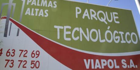 Parque tecnológico con Comic Sans