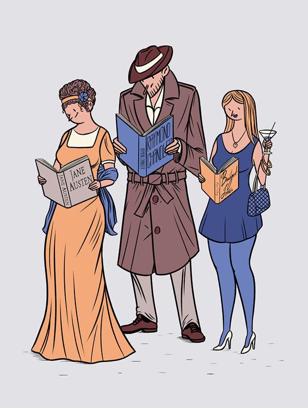 Jane Austen y Bridget Jones por Janne Livonen
