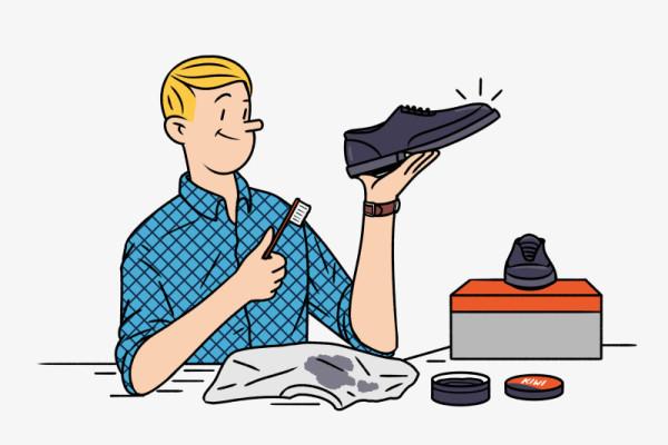 Dando lustre a los zapatos