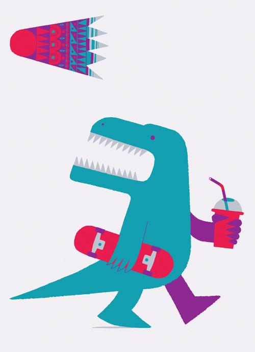 Dinosaurio moderno por  Adrian Johnson