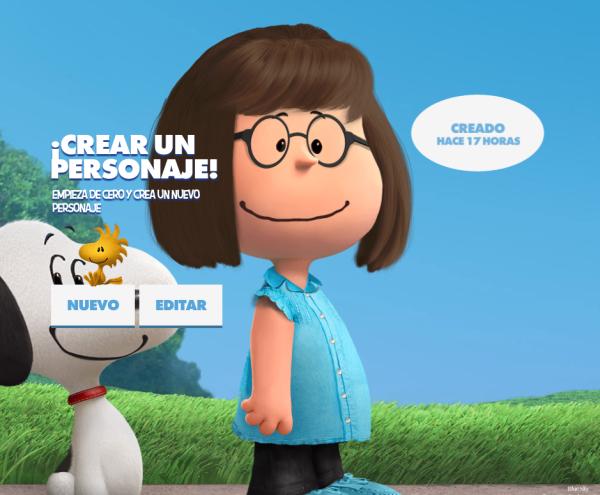 La web para hacer tu propio personaje snoopy