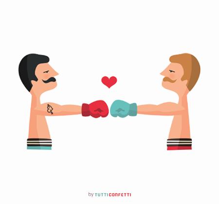boxeadores enamorados de Marta Colomer
