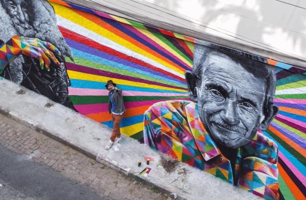 Arte urbano con Arruda Sobrinho como protagonista