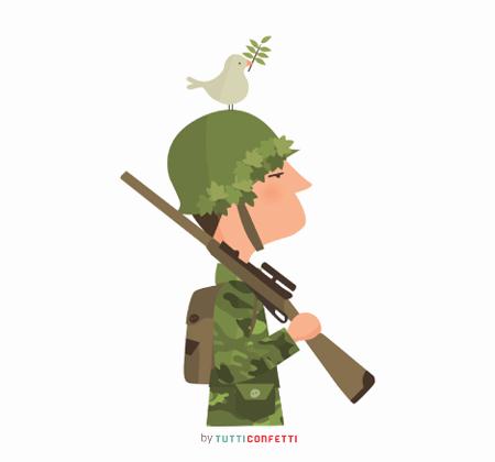 soldado con paloma de la paz tutticonfetti