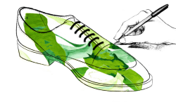 Imagen promocional del concurso de ilustración de myBlüchers