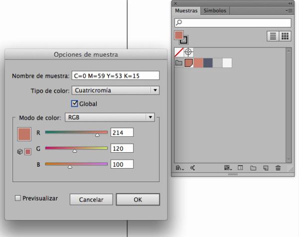 convertir muestra de color en global