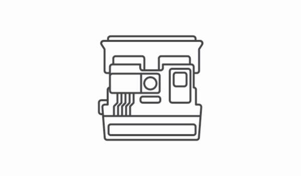 camara polaroid flat line craft fernando loza