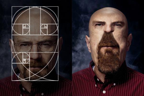 proporciones áureas en el rostro de Walter White