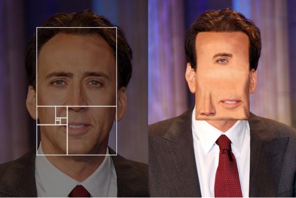 proporciones áureas en el rostro de Nicholas Cage