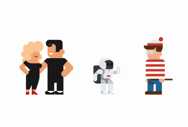 Grease y Wally en flat por Hey Studio