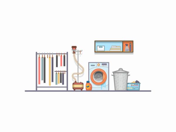 El cuarto de la limpieza flat por Miguel Camacho