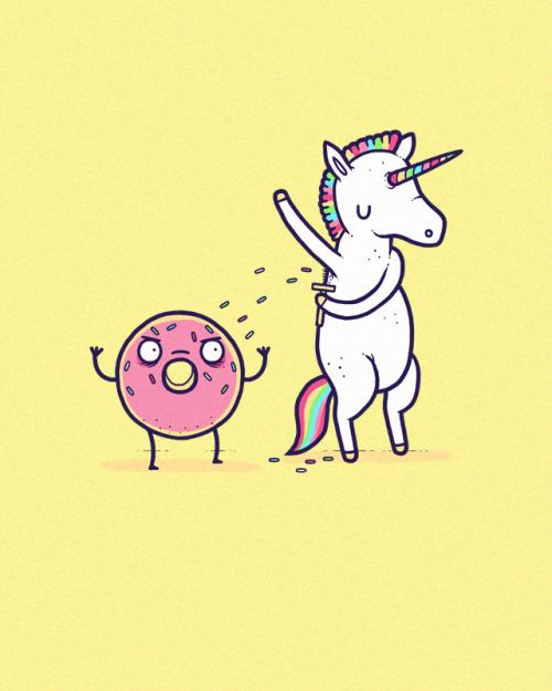 rosquillas y unicornio