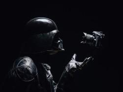 Darth Vader haciéndose un selfie