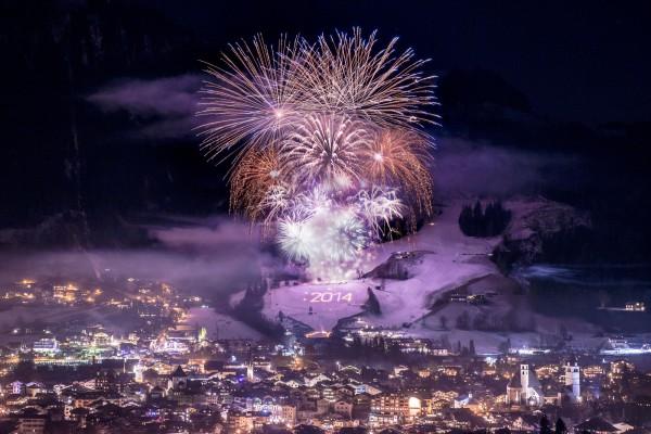 Neujahrsfeuerwerk Kitzbühel