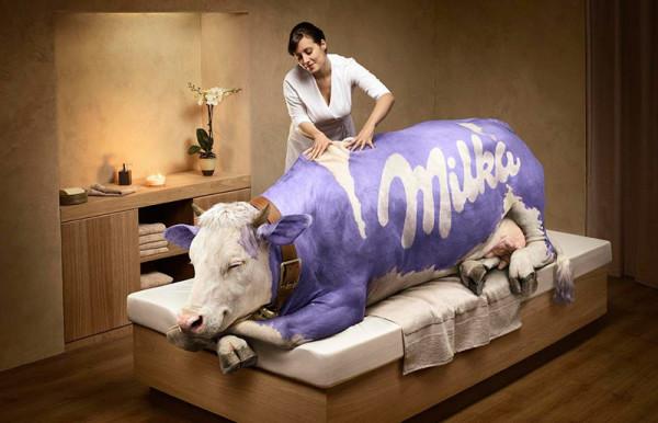 Photoshop creativo Milka