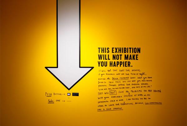 La exposición Happy Show de Steffan Sagmeister