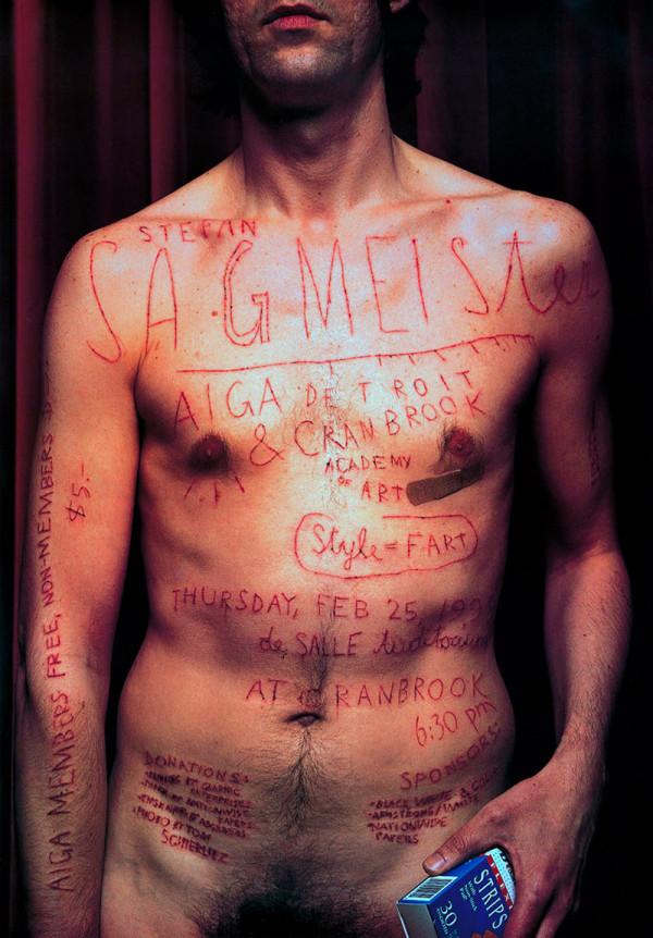El cartel para Aiga de Steffan Sagmeister