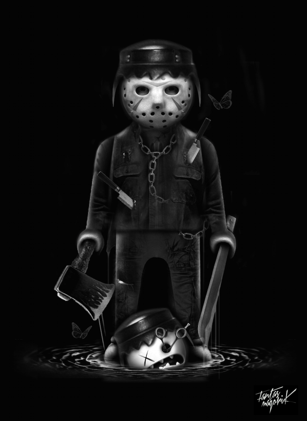 Ilustración digital siniestra