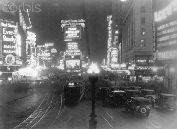 View of Times Square. Undated photograph, ca. 1925 © Underwood & Underwood/Corbis