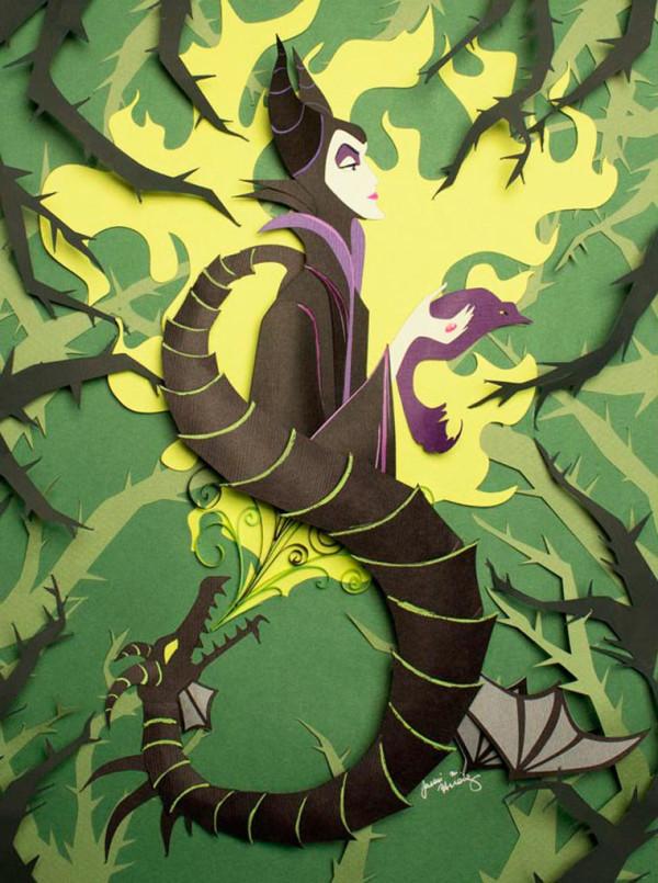 Jackie Huang Disney papercraft papercut art