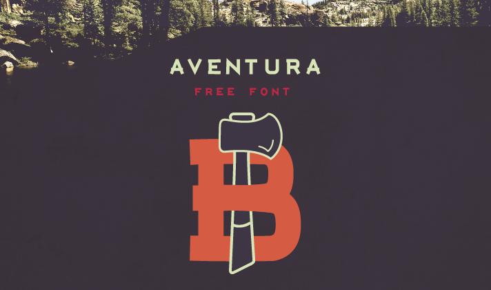 tipografía gratuita aventura