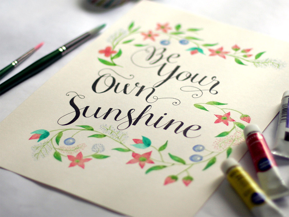 Lettering-and-Watercolor-via-Happy-Hands-Project-2