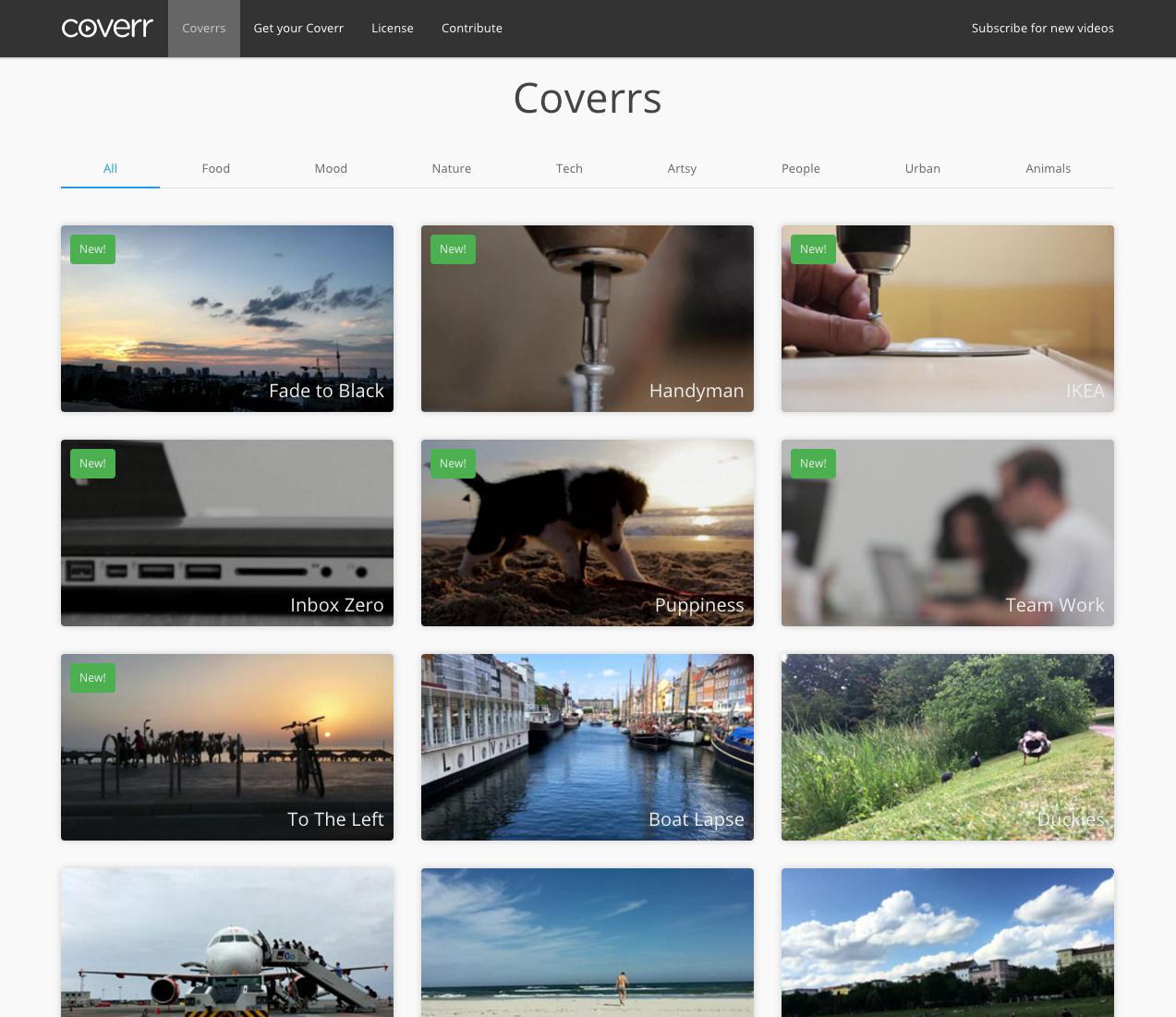 coverr recursos videos stock