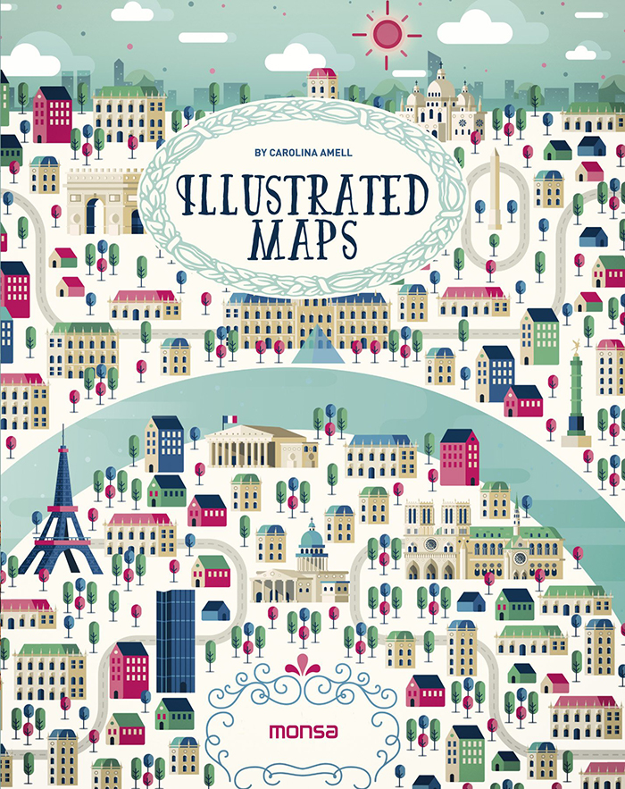 illustrated maps book carolina amell mapas ilustrados