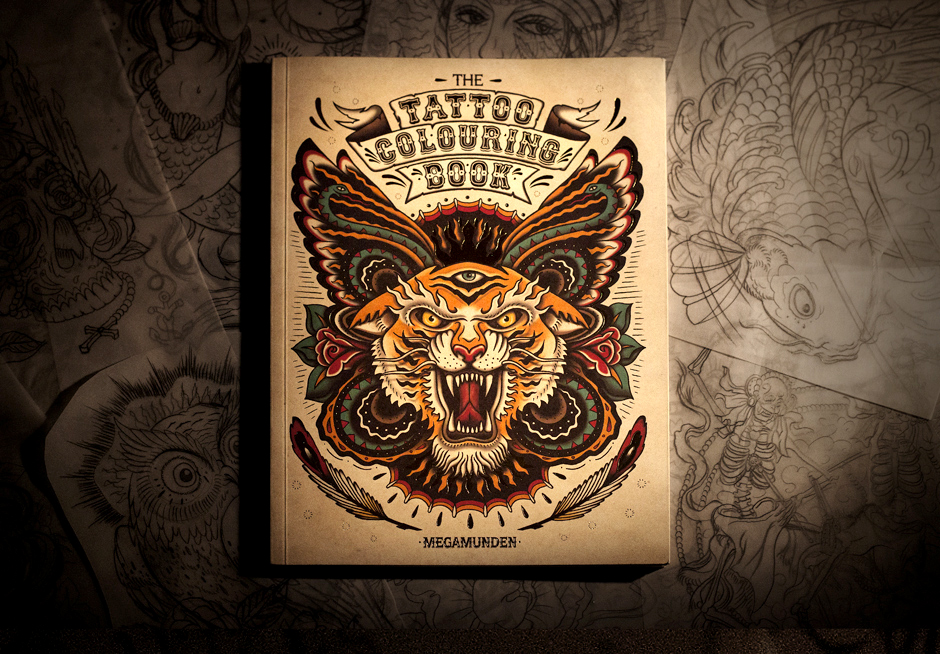 megamunden tattoo colouring book 1
