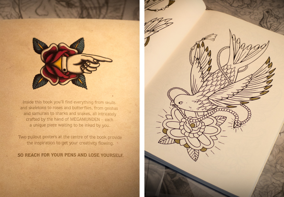 megamunden tattoo colouring book 2