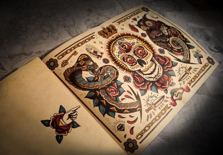 megamunden tattoo colouring book 4