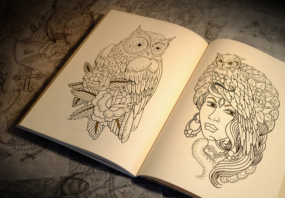 megamunden tattoo colouring book 5