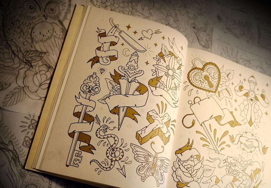 megamunden tattoo colouring book 7