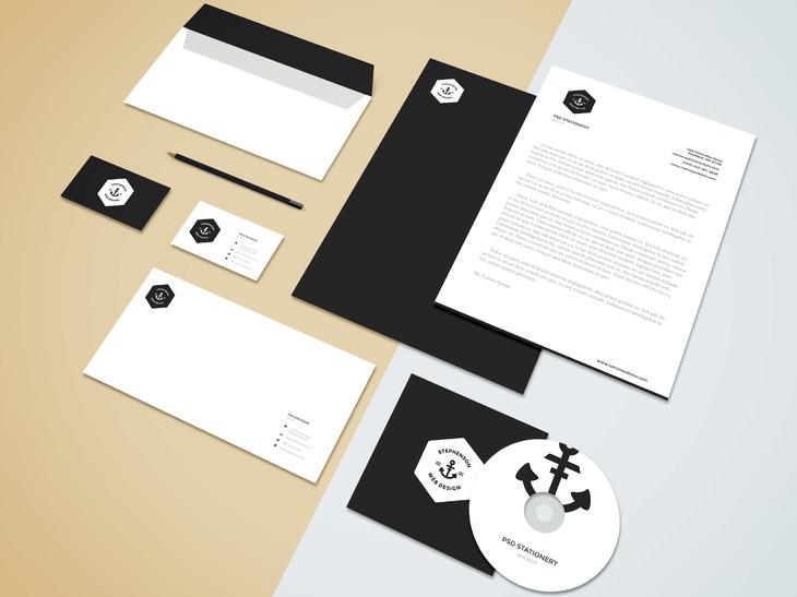 mockup gratis papeleria corporativa branding 08