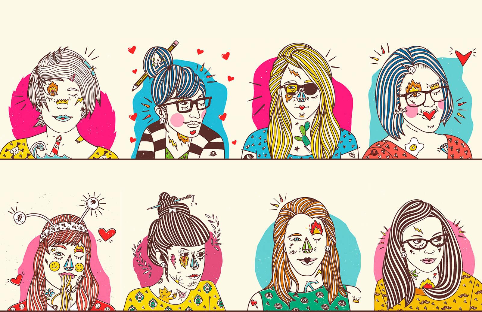 en muy mundo que viñetas mujeres sus ríen serio 8 se del con qx015xYX