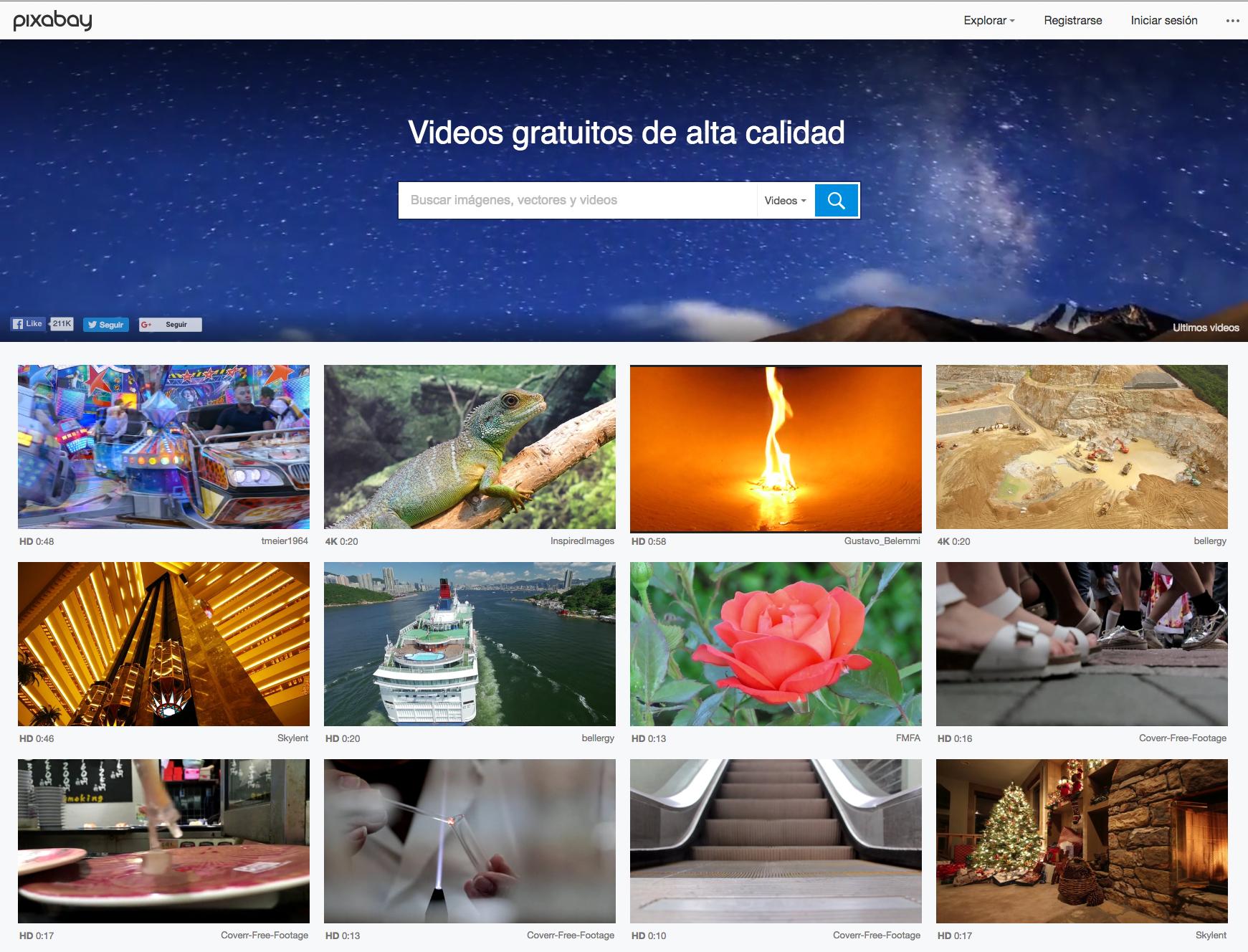 pixabay recursos bancos videos hd