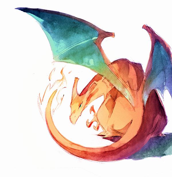 acuarelas pokemon go nicholas kole 01