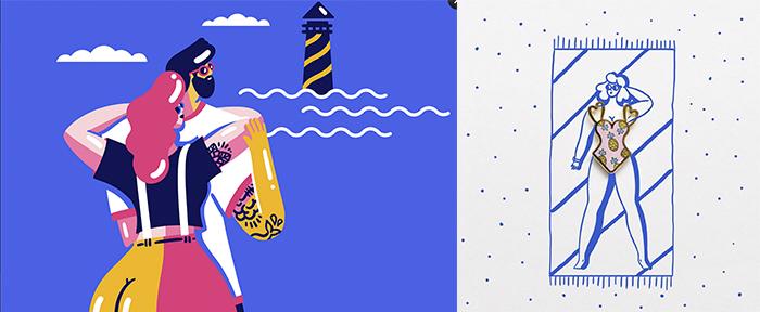 MArylou Faure, ilustración y pin