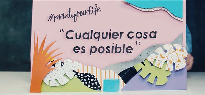 Imagen promocional concurso Printing Real Lifes. Paper art de Noelia Lozano