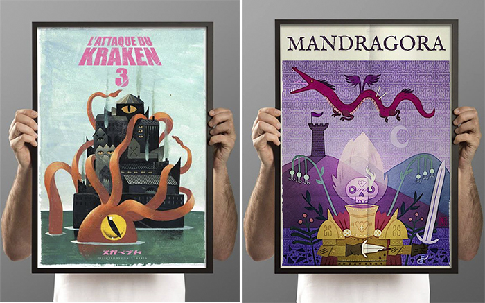Halloween Movie Posters para L'Encre Blanche