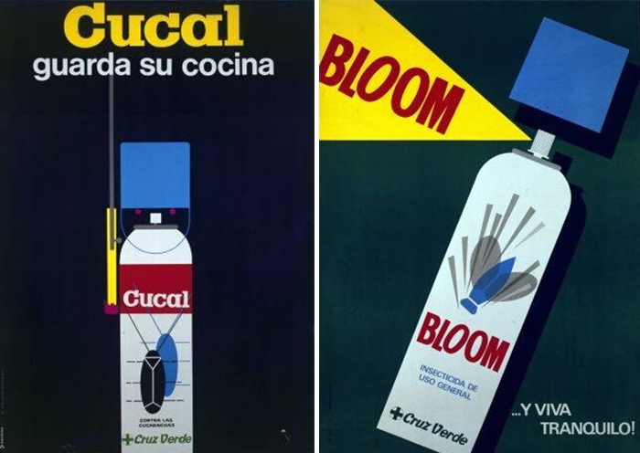 Carteles de Josep Artigas para Cucal y Bloom (Cruz Verde)