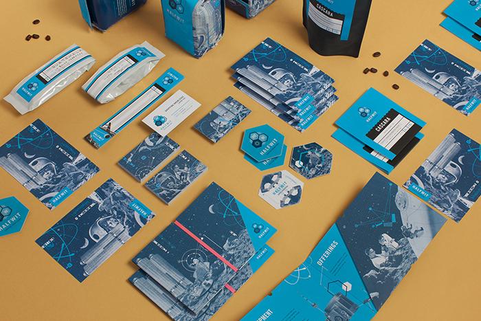 ocho diseños azules con estrella en behance