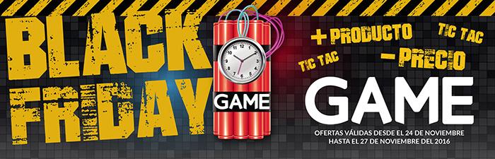 Publicidad de GAME para el black friday