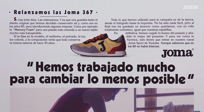 CAbecera- anuncio Joma 80 Retro 367