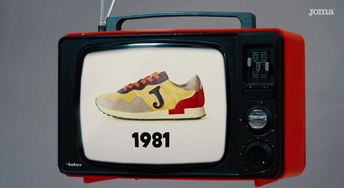 Tele zapatillas anuncio Joma 80 Retro 367