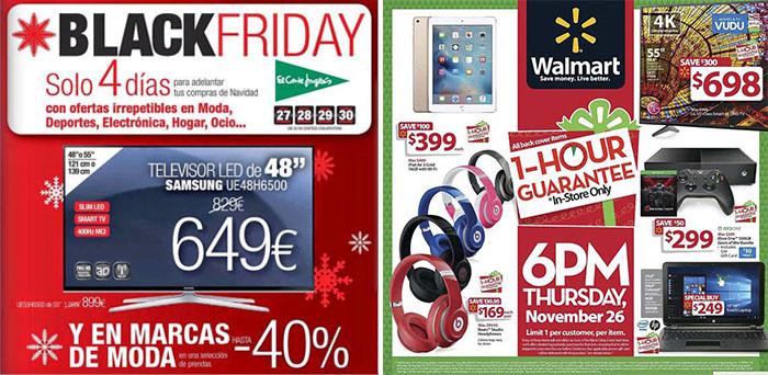 Publicidades de ofertas por el black friday