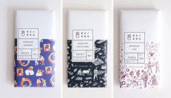 Packaging chocolates Barra- Chile - Colaboración con ilustradores Catalina Bu Only Joke y Matías Prado