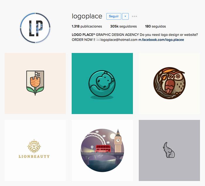 Cuenta de instagram con inspiración para logotipos y marcas